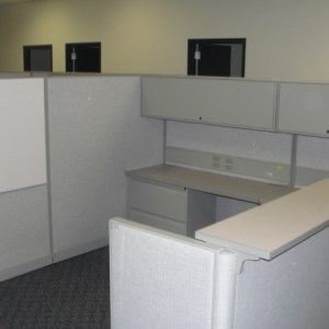 Used Cubicles by Trendway 8X8 and 67 tall Light Gray Philadelphia Pennsylvania2