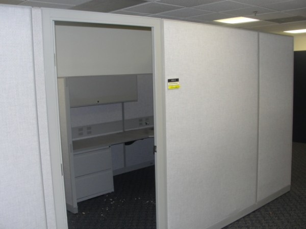Used Cubicles by Trendway 8X8 and 67 tall Light Gray Philadelphia Pennsylvania3