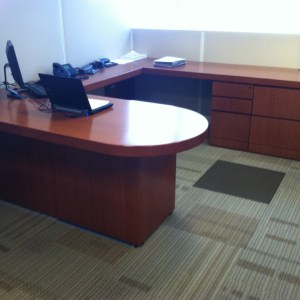 Used Knoll Reff Desk Sets with Leather Executive chair and Side Chair Included 750.00 Philadelphia Pennsylvania2