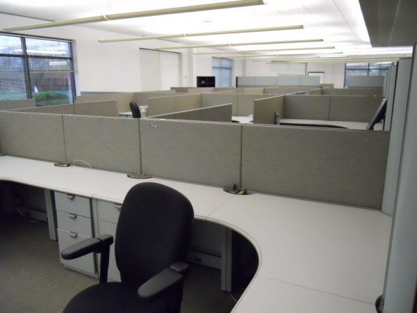 Used Steelcase Context 6.5 x 6.5 workstations6