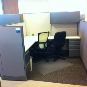 Used Allsteel Concensys 7x7 Cubicles1