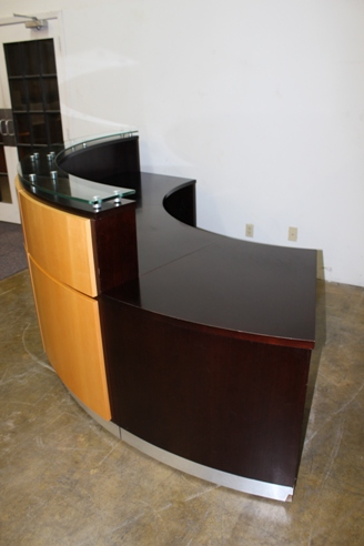 Used Reception Desk Custom Built Used Cubicles