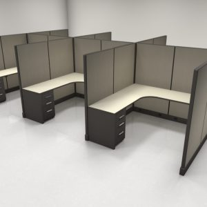 "6X6 67"" High Cubicles with One File"