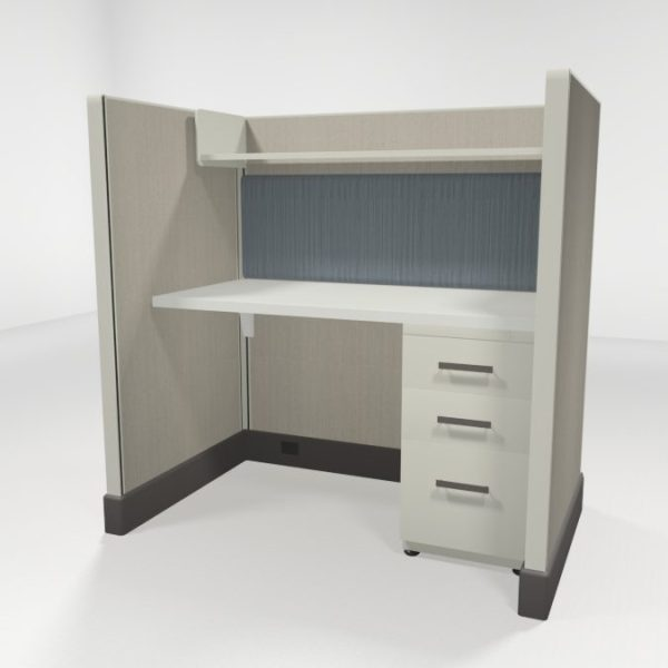 "Call Center Cubicles 53"" High Loaded"