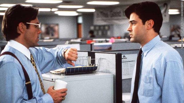 office space meeting in cubicle