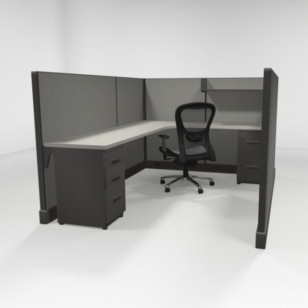 """QuickCubicles 53"""" Tall, Two Files, Shelf"""