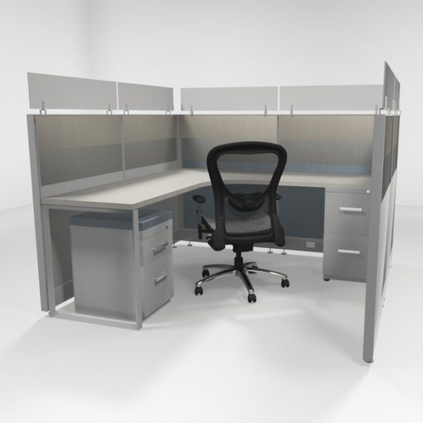 """6X6 47"""" Tiled Cubicles Loaded"""