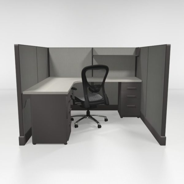 """6X6 53"""" High Cubicles Files and Shelf"""
