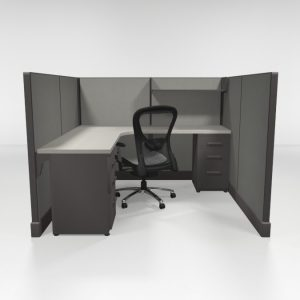 "6X6 53"" High Cubicles Files and Shelf"