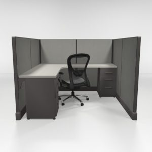 "6X6 53"" High Cubicles with Two Files"