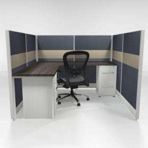 "6X6 53"" Tiled Cubicles with Two Files"