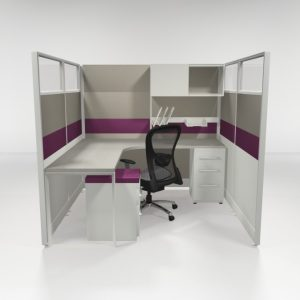 """6X6 67"""" Tiled Cubicles Loaded"""