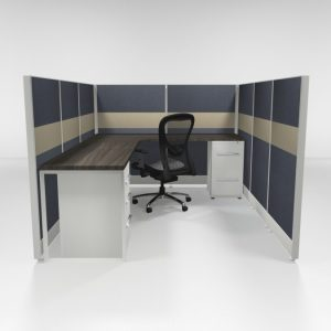 "6x8 53"" Tiled Cubicles with Two Files"