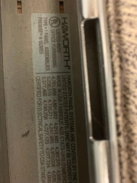 haworth premise cubicles for sale 8x6 8x7 3