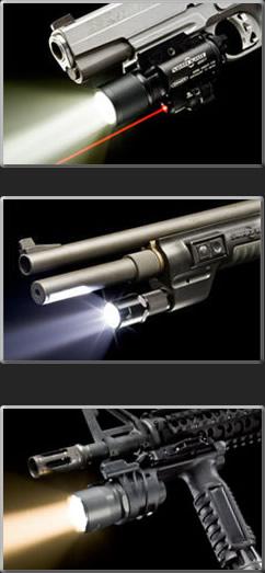 Surefire Lights for Handguns, Rifles, Carbines, and Shotguns
