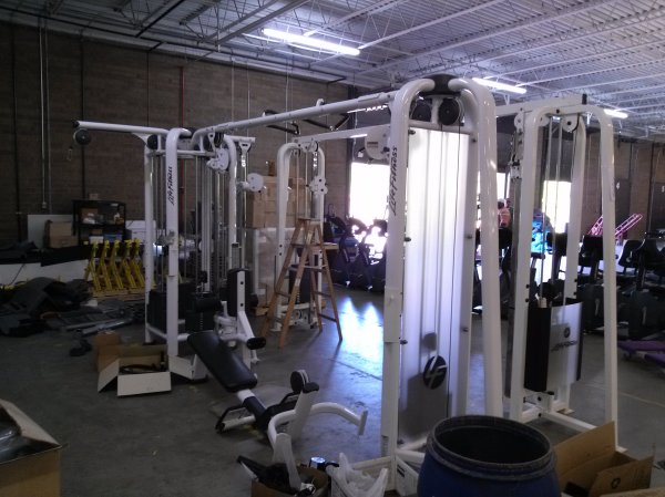 Life Fitness 5 Stack Multi Jungle 7500 Barbell