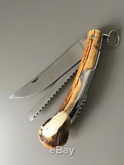 Couteaux Et Tire Bouchon : couteaux, bouchon, HERMÈS, -RARE, GRAND, COUTEAU, PLIANT, CHASSE, BOUCHON, Hunting, Folding, Knife
