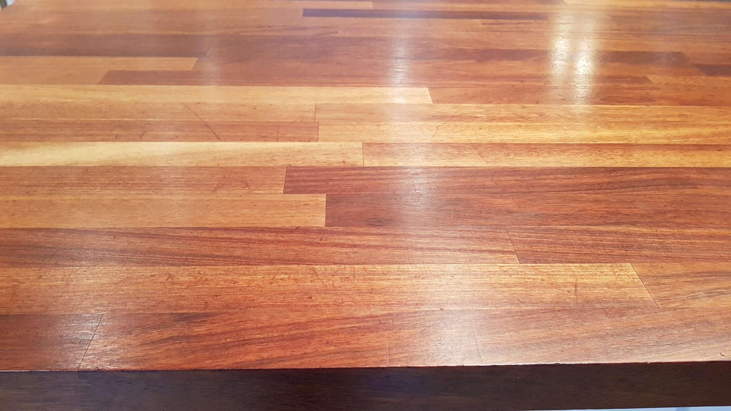 Ikea Gloss White Kitchen Wooden Worktops Neff Appliances