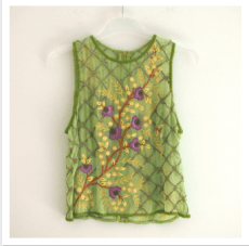 Vintage Silk Beaded Blouse http://www.usednotconfused.com