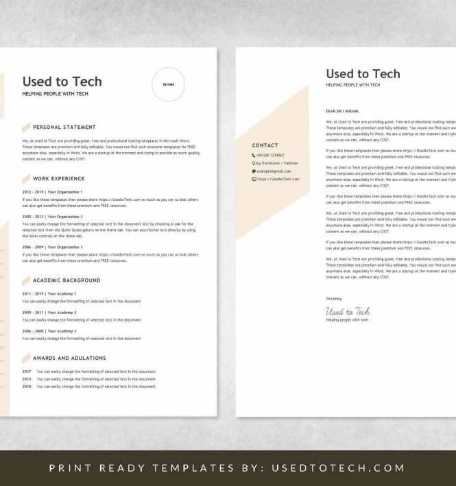 Modern Resume Template In Word Free