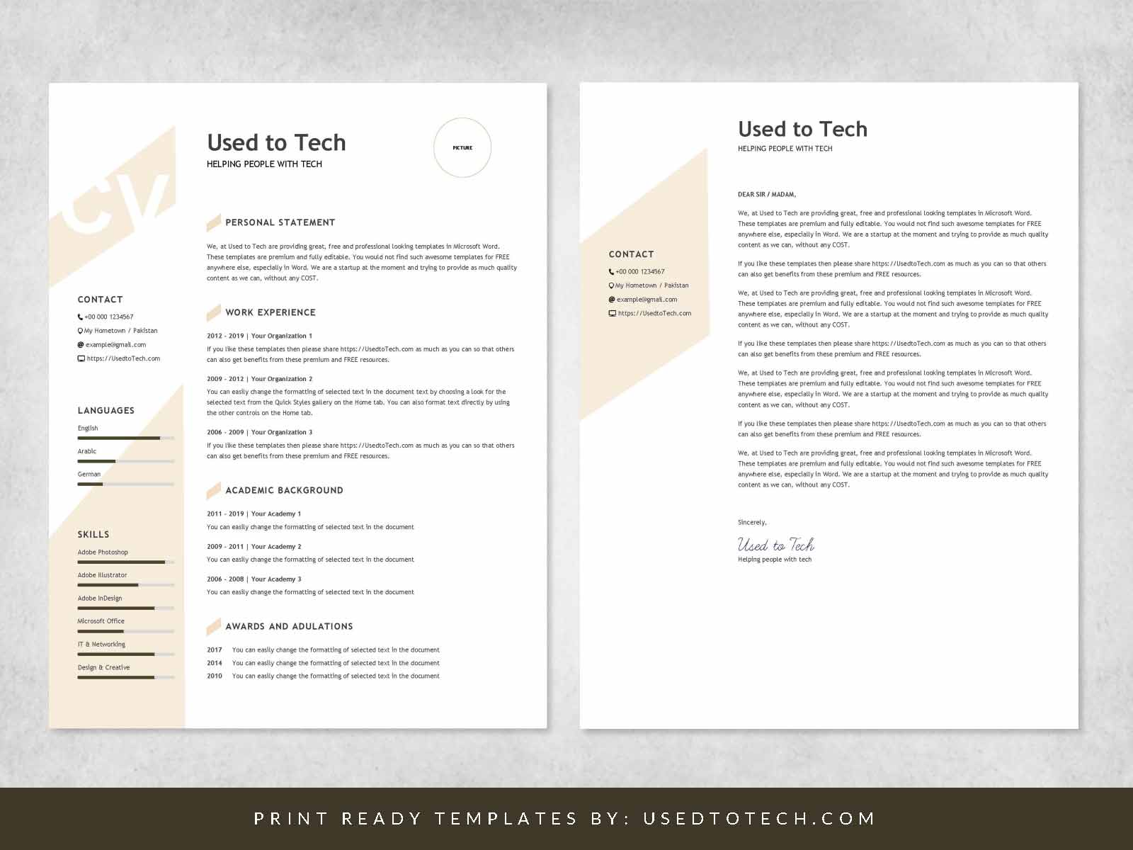 Resume Templates For Word Free Modern Resume Template In Word Free Used To Tech