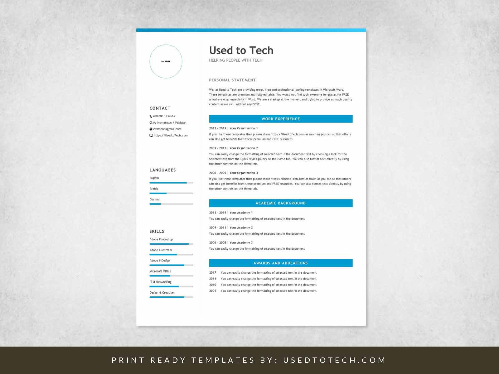 Professional Resume Template In Microsoft Word Free