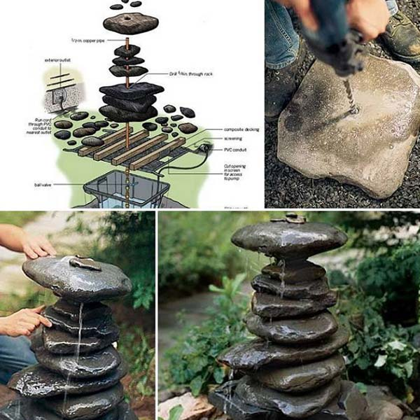 16 Simply Beautiful DIY Projects With Stone and Rocks Torn From Fairy Tales usefuldiyprojects landscaping decor (2)