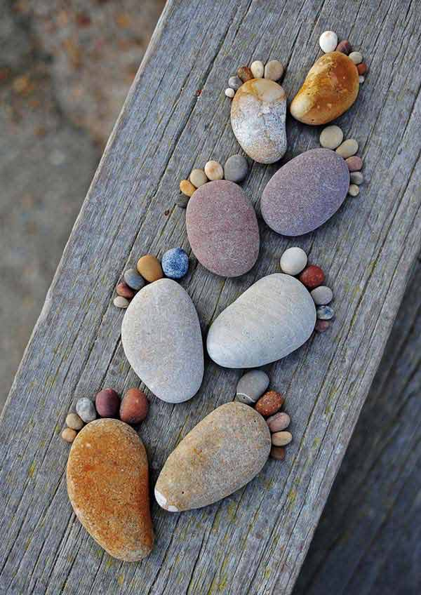 21 Lovely DIY Decor Ideas Emphasized by Creative Pebbles Art  usefuldiyprojects.com crafts (2)