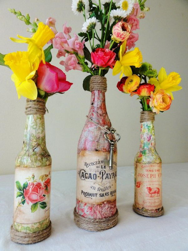 26 highly creative wine bottle diy projects to pursue 26 highly creative diy projects with wine bottles to pursue usefuldiyprojects solutioingenieria Choice Image
