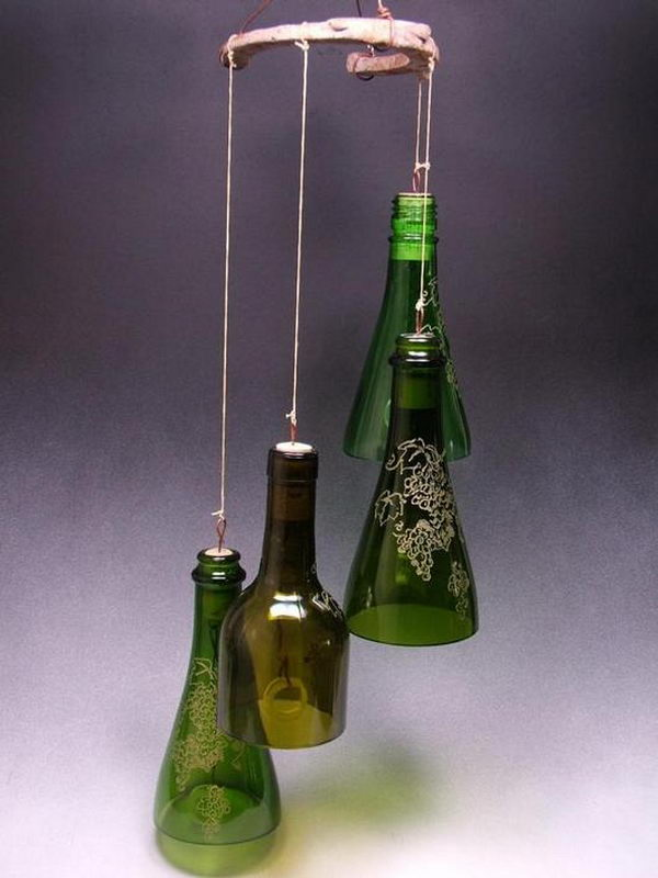 26 highly creative wine bottle diy projects to pursue for Recycling wine bottles creatively