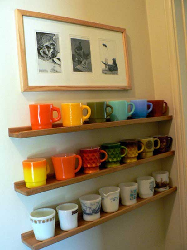 Attractive 30 Extraordinary Creative And Graphic DIY Mug Storage To Beautify Your  Kitchen Usefuldiyprojects.com Decor