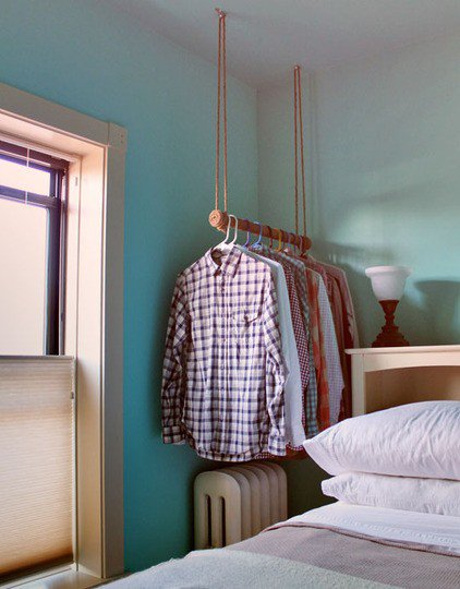 diy clothing storage solutions for small spaces. Black Bedroom Furniture Sets. Home Design Ideas