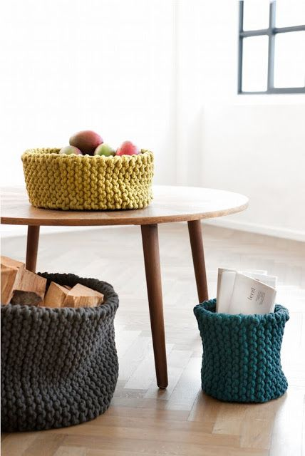 furniture with baskets transform your furniture with knitted furniture ideas