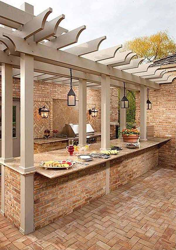 25 Beautifully Inspiring DIY Backyard Pergola Designs For Outdoor  Enterntaining Usefuldiyproject Pergola Design (14)