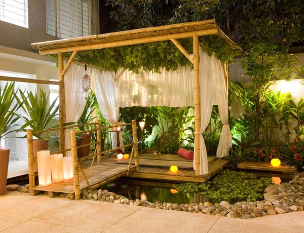 25 beautifully inspiring diy backyard pergola designs for outdoor enterntaining - Bamboo bar design ideas ...