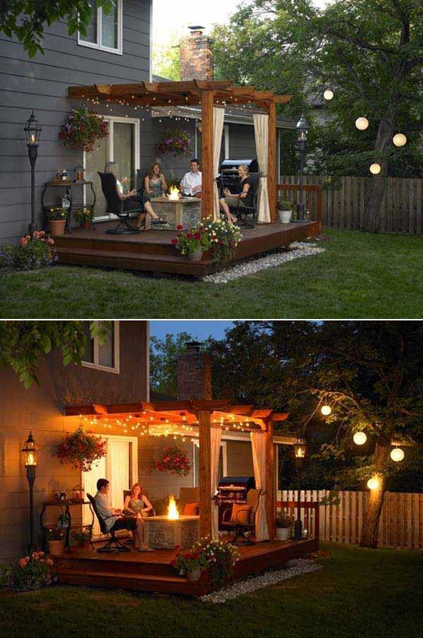 25 Beautifully Inspiring DIY Backyard Pergola Designs For Outdoor  Enterntaining Usefuldiyproject Pergola Design (16)
