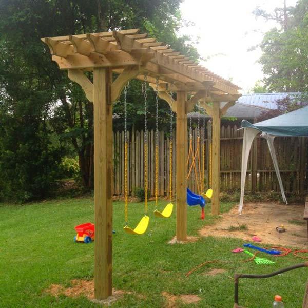 Pergola Designs Diy: 25 Beautifully Inspiring DIY Backyard Pergola Designs For