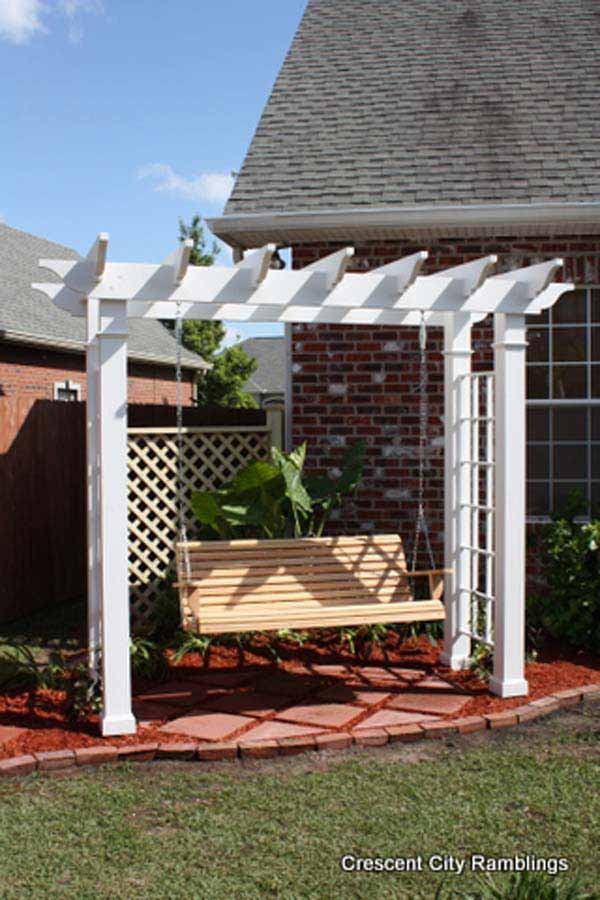 25 Beautifully Inspiring DIY Backyard Pergola Designs For Outdoor Enterntaining usefuldiyproject pergola design (22)