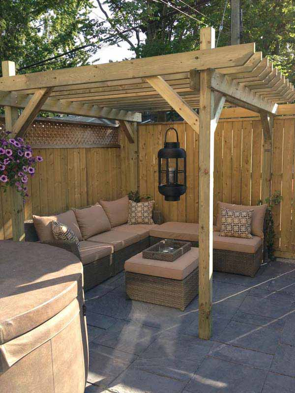 25 Beautifully Inspiring DIY Backyard Pergola Designs For Outdoor Enterntaining usefuldiyproject pergola design (6)