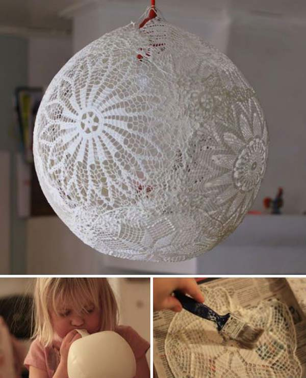 22 Mesmerizing Homemade DIY Lace Crafts To Beautify Your Home usefuldiyprojects.com (12)