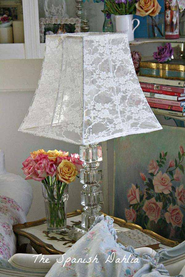 22 Mesmerizing Handmade DIY Lace Crafts To Beautify Your Home usefuldiyprojects.com