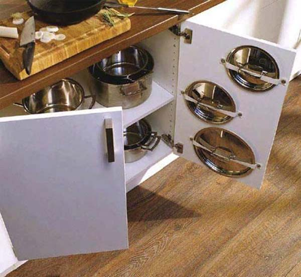 12 Insanely Smart Ways to Organize Your Pot Lids (8)