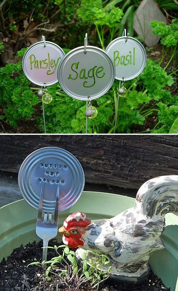 19 Brilliant No-Money Ideas to Label The Plants in Your Garden (8)