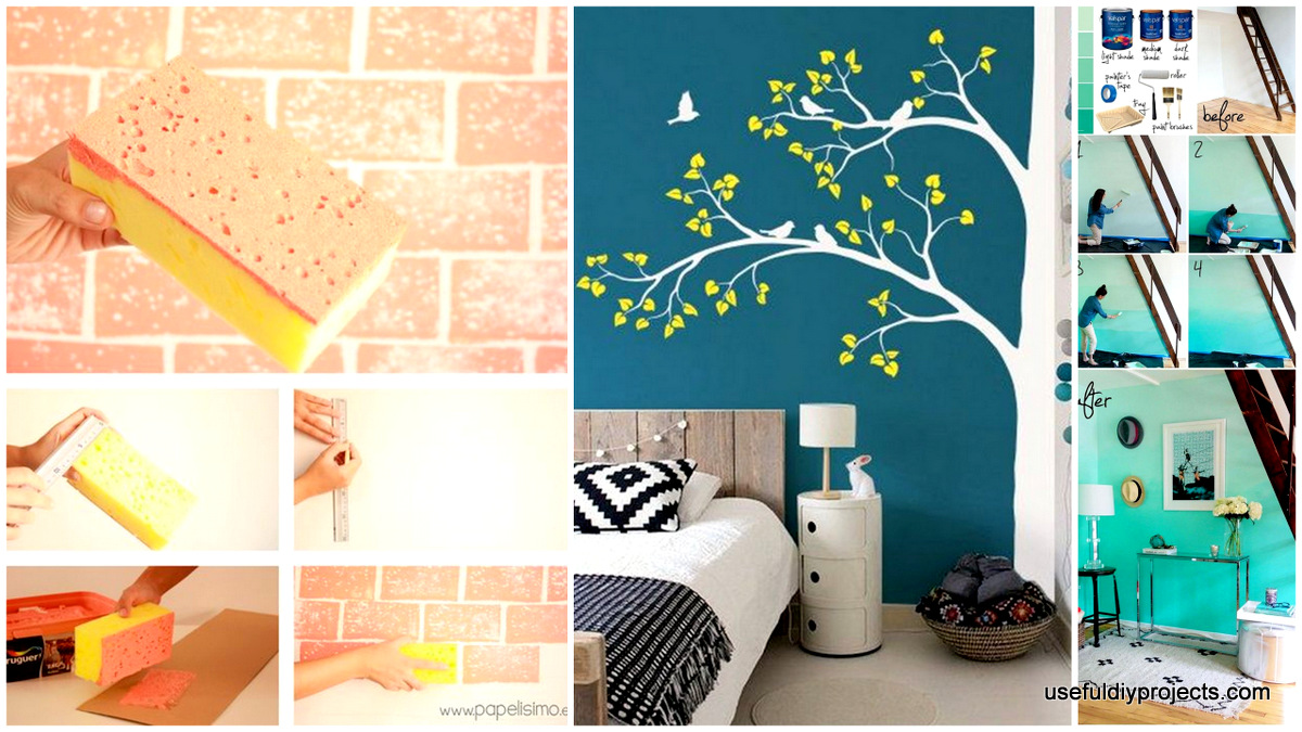 Superior 15 Epic DIY Wall Painting Ideas To Refresh Your Decor   Useful DIY Projects