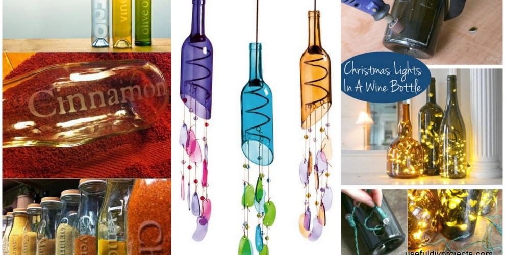 16 glass bottle crafts for home decor and gift ideas for What can i do with glass bottles