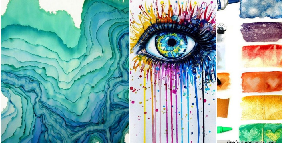 15 watercolor painting ideas you can do at home useful for Watercolor painting ideas beginners