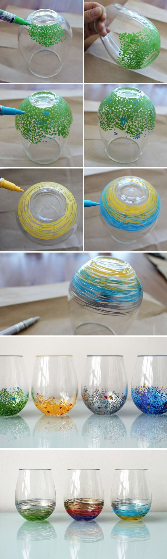 15 painted wine glasses to liven up your meal useful diy for Acrylic paint for glassware