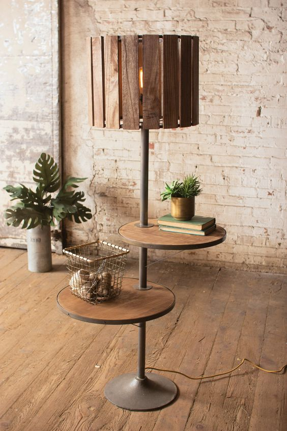15 Rustic Floor Lamp With Shallow Shelves 2245ebf3bfc51d234c68db6f8387c398