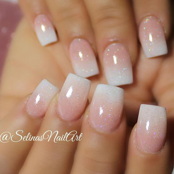 15. faded french acrylic nails - 37 Acrylic Nail Art Designs You'll Want To Try For Upcoming Parties