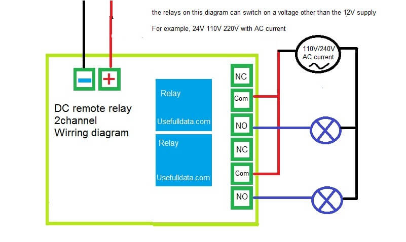 Dual Relay Driver Board Circuit Schematic